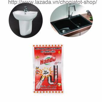 Bột thông tắc cống,đường ống nước thải,Lavabo,bồn rửa bát Hando 100Gr (Màu Đỏ)