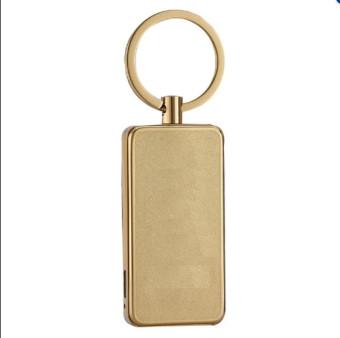 Bật Lửa móc khóa Sạc Điện USB Hoa Văn (vàng đồng)