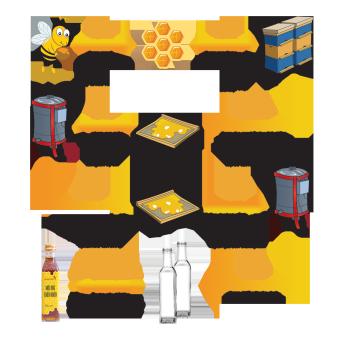 Bộ Mật ong Thô HONEYBOY 1000ml và Mật ong thiên nhiên HONEYBOY 250ml