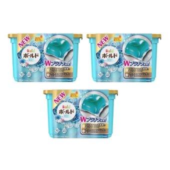 Bộ 3 Hộp Nước Giặt Và Xả Gel Ball Xanh – Sản Xuất Tại Nhật Bản