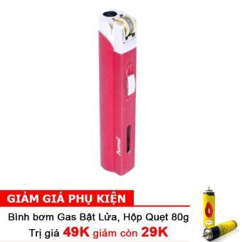 Bật lửa khò Aomai cổ điển có chốt an toàn F534 (Đỏ) + Bình bơm gas Bật lửa 80g