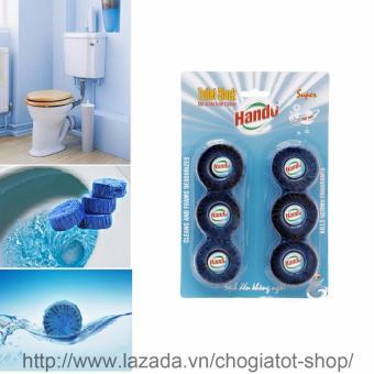 Vỉ 6 viên tẩy,vệ sinh và khử mùi hôi Toilet Hando 330Gr