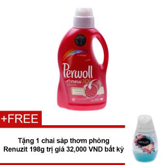 Nước giặt Perwoll Renew 3D Color 1.5L + Tặng sáp thơm phòng Renuzit bất kì 198g