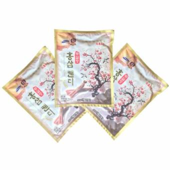 Bộ 3 túi kẹo hồng sâm không đường 200grx3 - Hàn Quốc