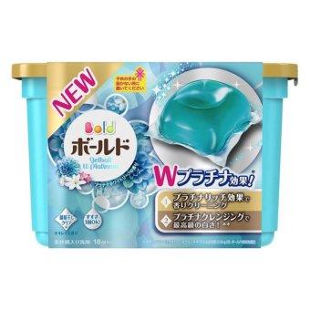 Hộp 18 Viên Nước Giặt Xả 2 Trong 1 Gel Ball Xanh Nhật Bản