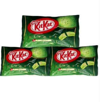 Bộ 3 bịch bánh chocolate Kitkat trà xanh 12 thanh