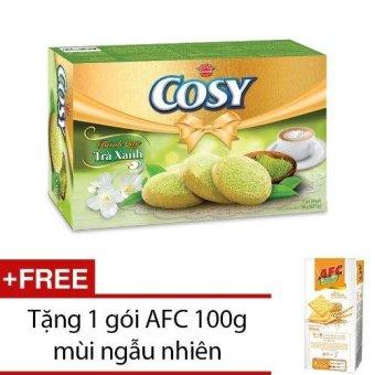 Bánh Cosy Tra Xanh 196g tặng bánh AFC 100g