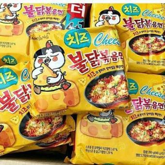 Bộ 5 gói Mì khô gà cay vị phô mai Samyang