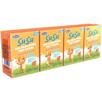 Thùng 48 Hộp Sữa chua uống SuSu Hương Cam 110ml
