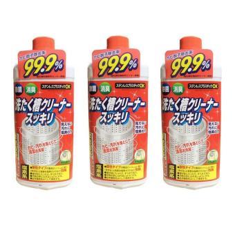 Bộ 3 chai Nước tẩy vệ sinh lồng máy giặt Rocket - Sản xuất tại Nhật Bản(550g/Chai x 3)