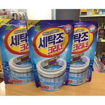 Bộ 3 Gói bột tẩy vệ sinh lồng máy giặt 450g cao cấp