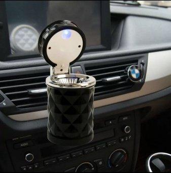 Gạt tàn thuốc lá trên ô tô có đèn LED gắn lọc gió LOẠI 1 H85-NÂU