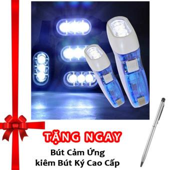 Đèn Pin Công Nghệ Sạc Bằng Tay F16 (Xanh) + Tặng bút ký kiêm bút cảm ứng cho smartphone và tablet