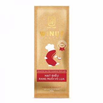 Hạt điều rang muối vỏ lụa Winut 50gr (Túi giấy)