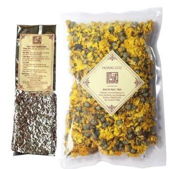 Bộ đôi trà Ngọc Thúy Hoàng cúc Bạch Hạc Trà
