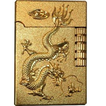 Bật lửa dùng gas khắc hình rồng vàng