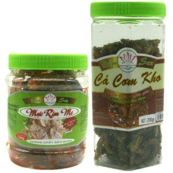 Bộ 02 món mực rim me đặc sản Phan Thiết 150g + cá cơm kho ăn liền 200g