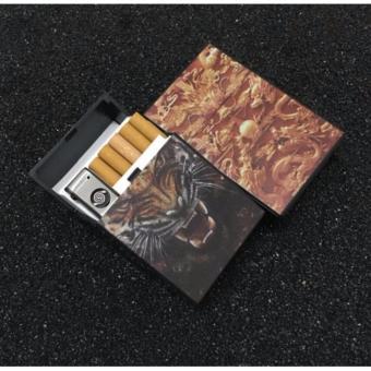Hộp Đựng Thuốc Lá Kèm Bật Lửa Hồng Ngoại Kèm Cáp Sạc USB F199 (mẫu Rồng)