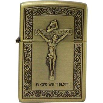 Bật Lửa Xăng In God We Trust (Vàng Đồng)