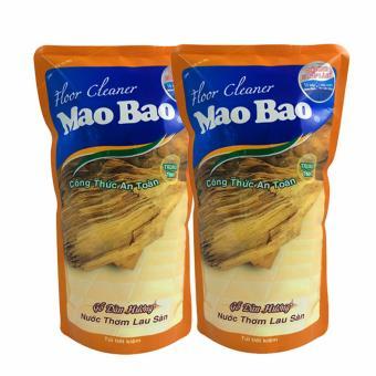 Bộ 2 túi nước thơm lau sàn Mao bao 1000ml - Hương gỗ đàn hương