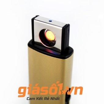 Bật lửa điện chân sạc USB tiện lợi (Vàng)