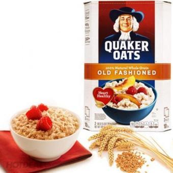 Yến mạch nguyên hạt giảm cân (nguyên chất - dạng cán mỏng)- Quaker Oats Old Fashioned 4,52Kg