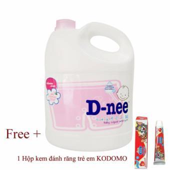 Nước giặt quần áo Thái Lan trẻ em Lovely Sky 3000ml + Tặng kèm kem đánh răng trẻ em KODOMO vị hoa quả