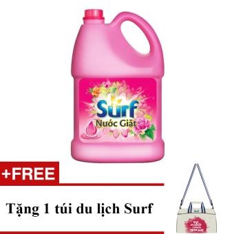 Nước giặt Surf 3.6L hương cỏ hoa diệu kỳ (chai) + Tặng 1 túi du lịch Surf