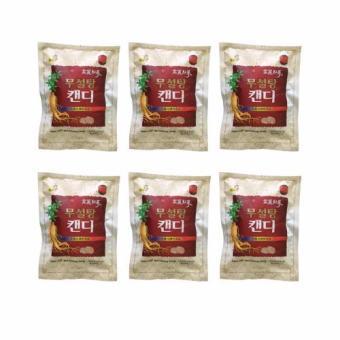 Bộ 6 Kẹo Hồng sâm Hàn Quốc không đường 500g