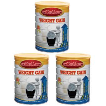Bộ 3 sữa dành cho người gầy Intellac Weight gain 900g