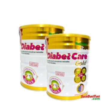 Bộ 2 hộp Sữa Nuti Diabetcare Gold 900g cho người bệnh tiểu đường