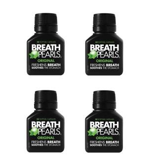 Bộ 4 hộp kẹo Bạc Hà Breath Pearls Origina