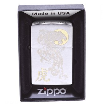 Bật lửa Zippo Tiger Brushed Chrome Lighter (Bạc) 57310