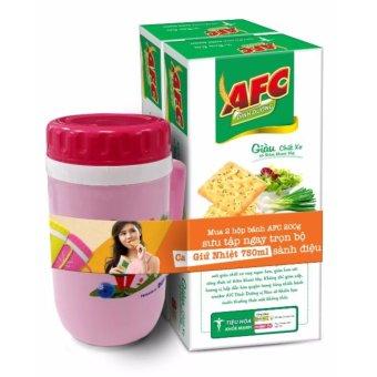 Combo 2 hộp Bánh AFC dinh dưỡng Rau cải 200gr tặng ca cách nhiệt Duy Tân 750ml (màu bất kỳ)