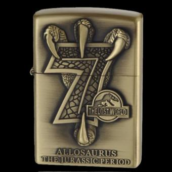 Bật lửa xăng Móng Rồng và số 7 thần thánh (Vàng đồng)
