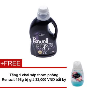 Nước giặt Perwoll With Renew Black Effects 1.5L + Tặng sáp thơm phòng Renuzit bất kì 198g