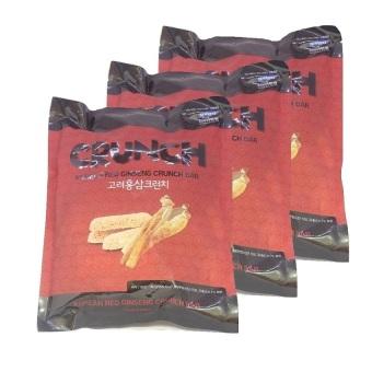 Bộ 3 gói bánh gạo xốp hồng sâm Crunch Daedong 180gr