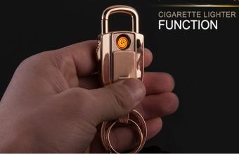 Bật lửa usb móc khóa không cần gas Fullbox JB980 (Vàng)