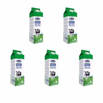 Bộ 5 Hộp Sữa tươi thanh trùng Vinamilk 100% có đường 900ml