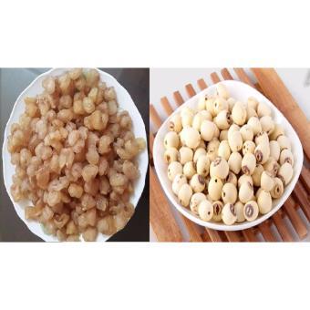 Bộ 2 sản phẩm (500gr Long nhãn + 500gr hạt sen khô bắc) Hưng Yên