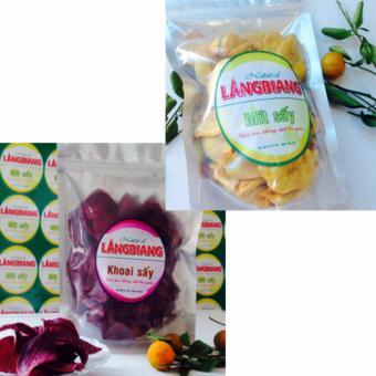 Bộ khoai lang Tím sấy(300gr)-Mít sấy thơm ngon(200gr)