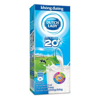 Thùng 48 hộp sữa tươi tiệt trùng Dutch Lady không đường 180ml