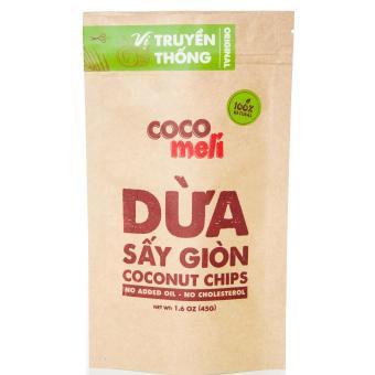 Dừa Sấy Giòn Cocomeli 45gr