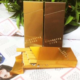 Hộp Đựng Thuốc Lá Cigarette Case (10 Điếu) Màu Vàng