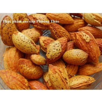 Bộ 4 gói Hạnh nhân nguyên vỏ rang bơ California 500g (nhập Mỹ) + Tặng kềm bấm hạt
