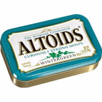 2 hộp kẹo ngậm thơm miệng hương bạc hà Altoids Wintergreen hộp lớn 50g