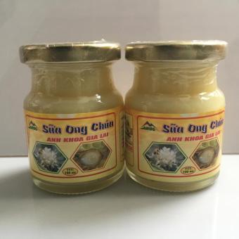 Bộ 2 Lọ Sữa Ong Chúa Tươi thương hiệu Anh Khoa Gia Lai 100g/lọ