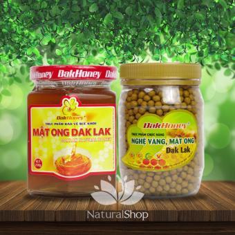 Bộ sản phẩm mật ong nguyên chất Dakhoney 250gram + Viên nghệ vàng Dakhoney 200gram