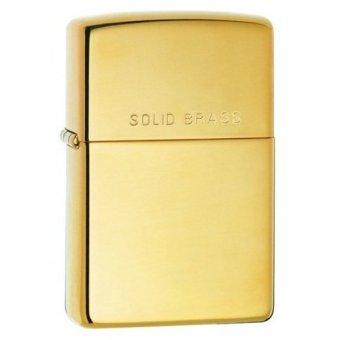 Bật lửa zippo màu vàng solid brass