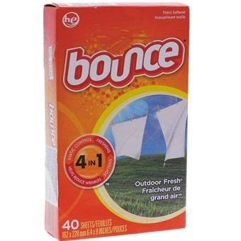 Giấy xả làm mềm vải Bounce 4in 1 Outdoor Fresh 40 tờ